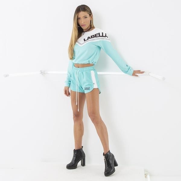 Labella Mikina Turquoise/White - M, M - 5
