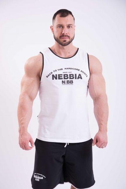 Nebbia Tílko Hardcore S Lemováním 395 Bílé - L, L - 5