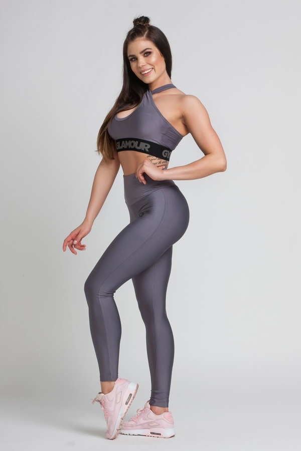 Gym Glamour Legíny High Waist Granite - M, M - 5