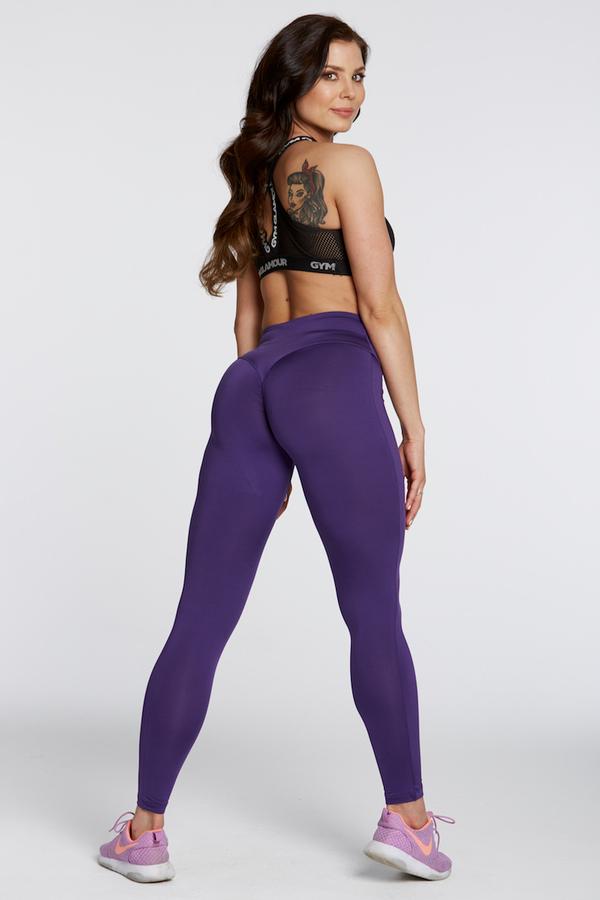 Gym Glamour Leggings High Waist Violet, M - 5
