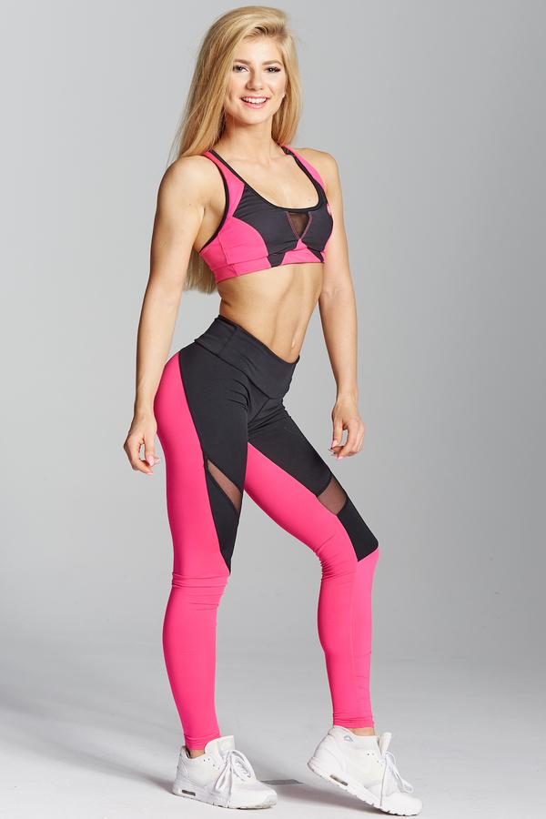 Gym Glamour Legíny Pink Fluo - XS, XS - 5