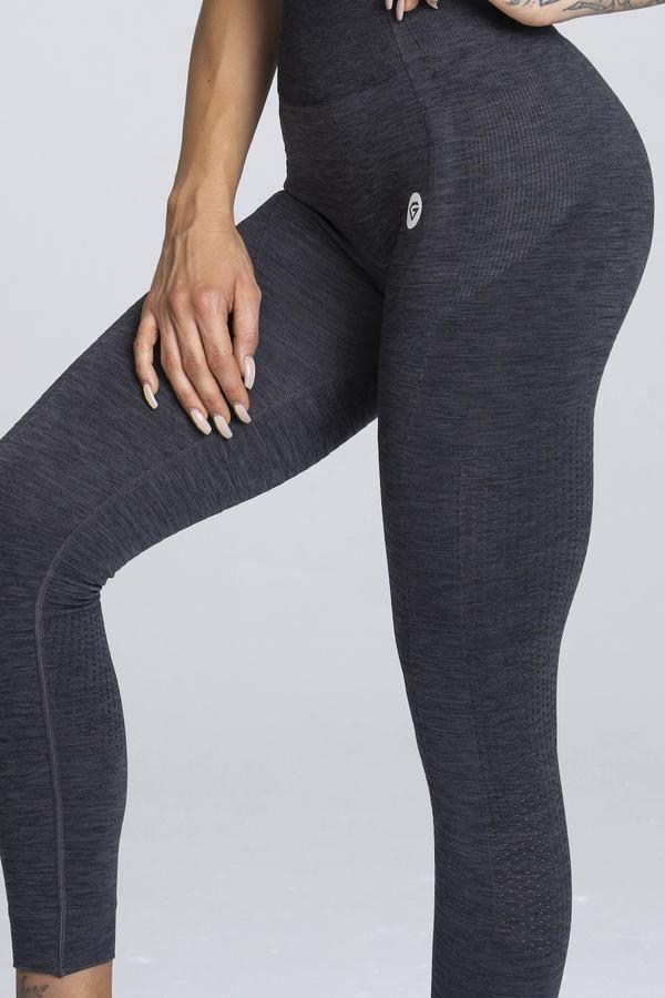Gym Glamour Legíny Bezešvé Grey Melange - S, S - 5