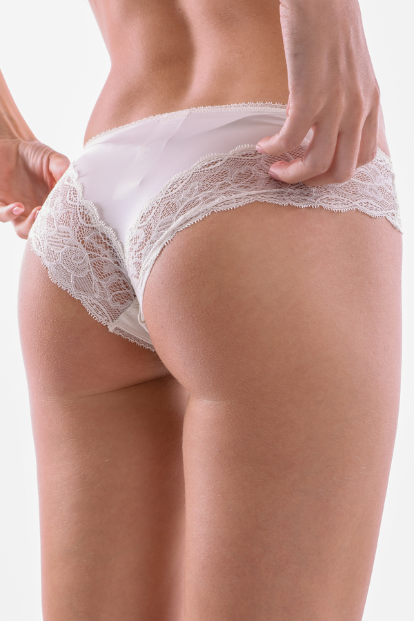Calvin Klein Kalhotky Flirty Krémové - S, S - 5