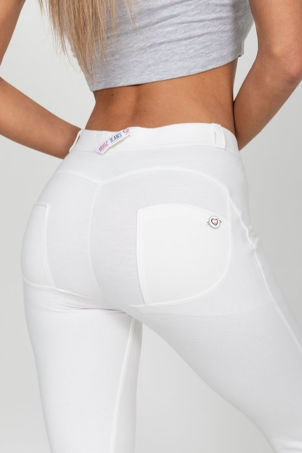 Hugz White High Waist Jegging - XL, XL - 5