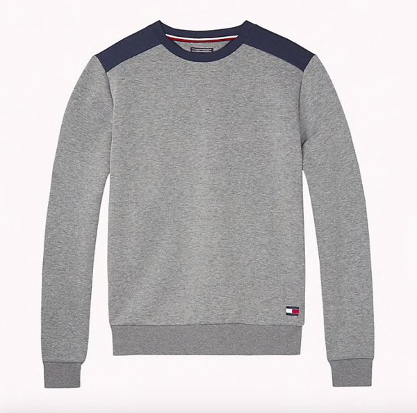 Tommy Hilfiger Mikina Colour Blocked Grey - XL, XL - 5