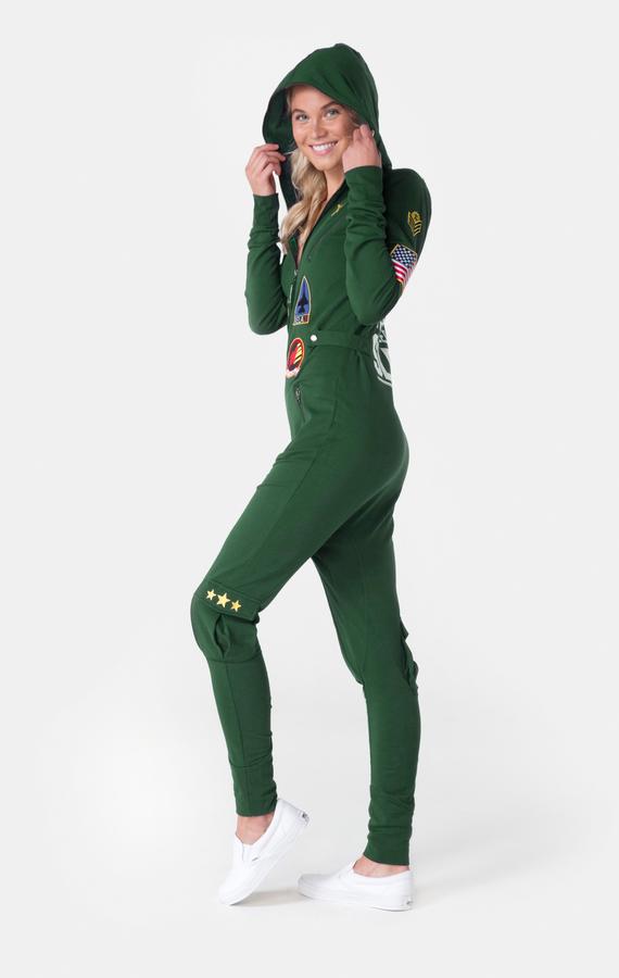 OnePiece Aviator Onesie Jungle Green - XXS, XXS - 5