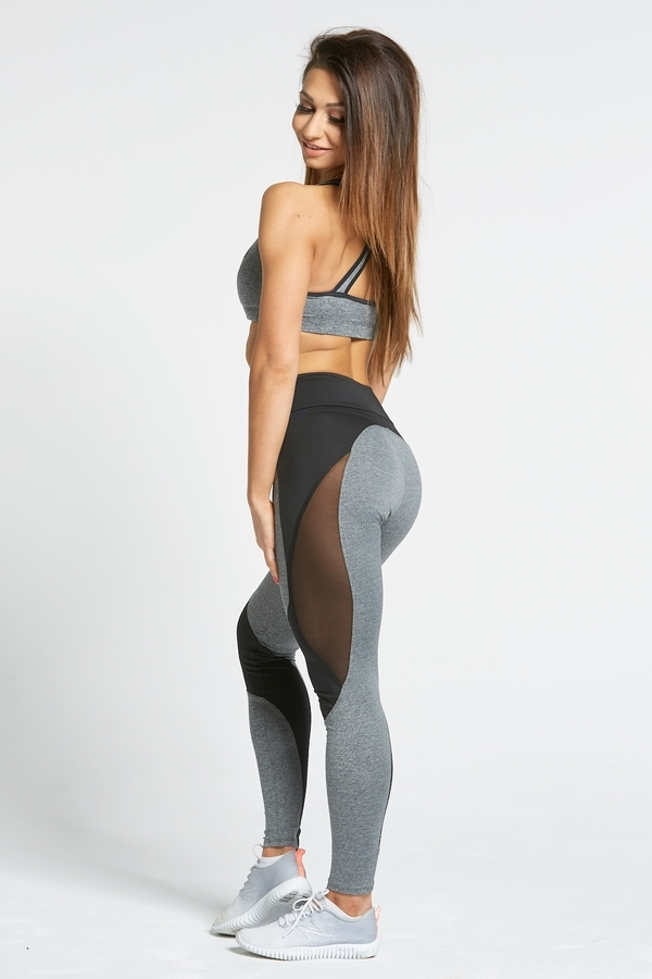 Gym Glamour Legíny Sexy Black And Grey - L, L - 6