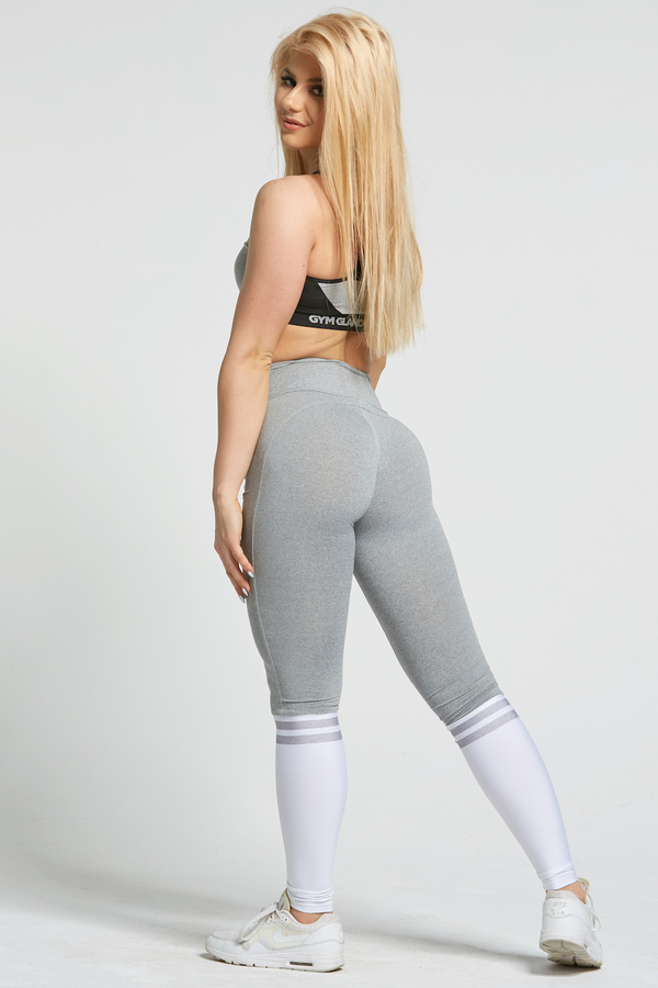 Gym Glamour Legíny Grey & White Socks - M, M - 6