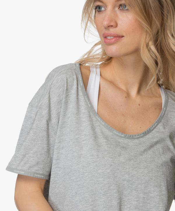 Calvin Klein Dámská Noční Basic Košilka Šedá - L, L - 6