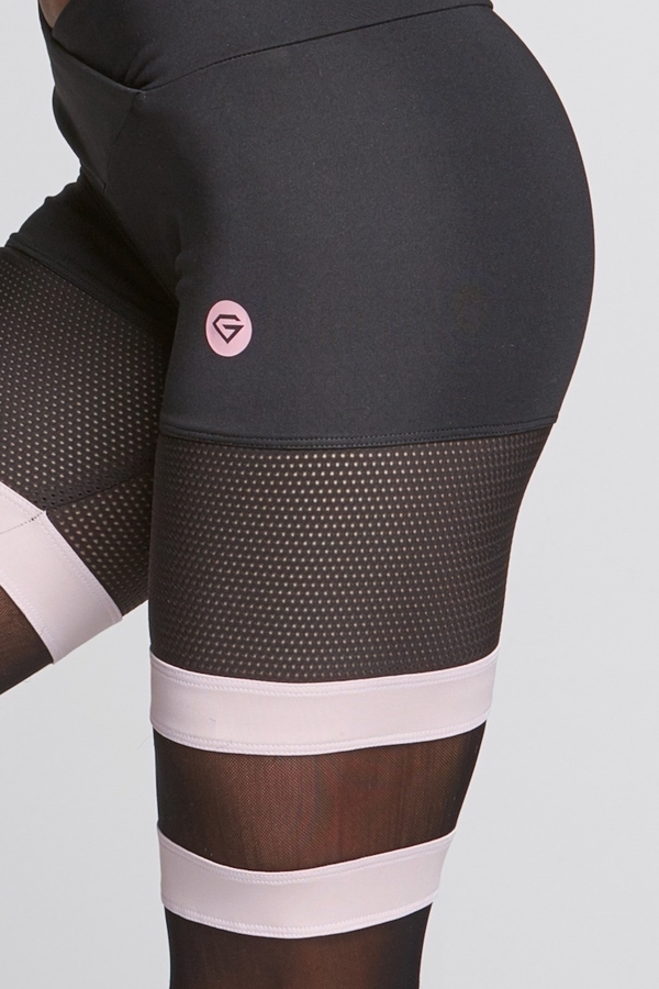 Gym Glamour Legíny Mesh And Pink Socks - XS, XS - 6