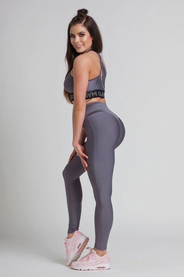 Gym Glamour Legíny High Waist Granite - M, M - 6