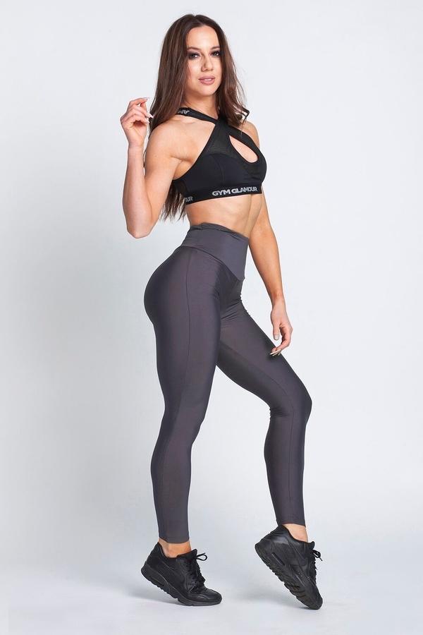 Gym Glamour Legíny High Waist Dark Grey - L, L - 6