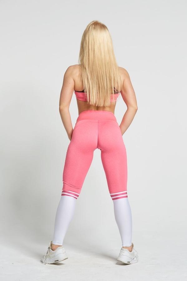 Gym Glamour Legíny Pink & White Socks - S, S - 6