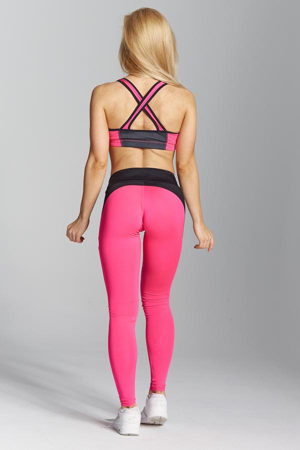 Gym Glamour Legíny Pink Fluo - XS, XS - 6