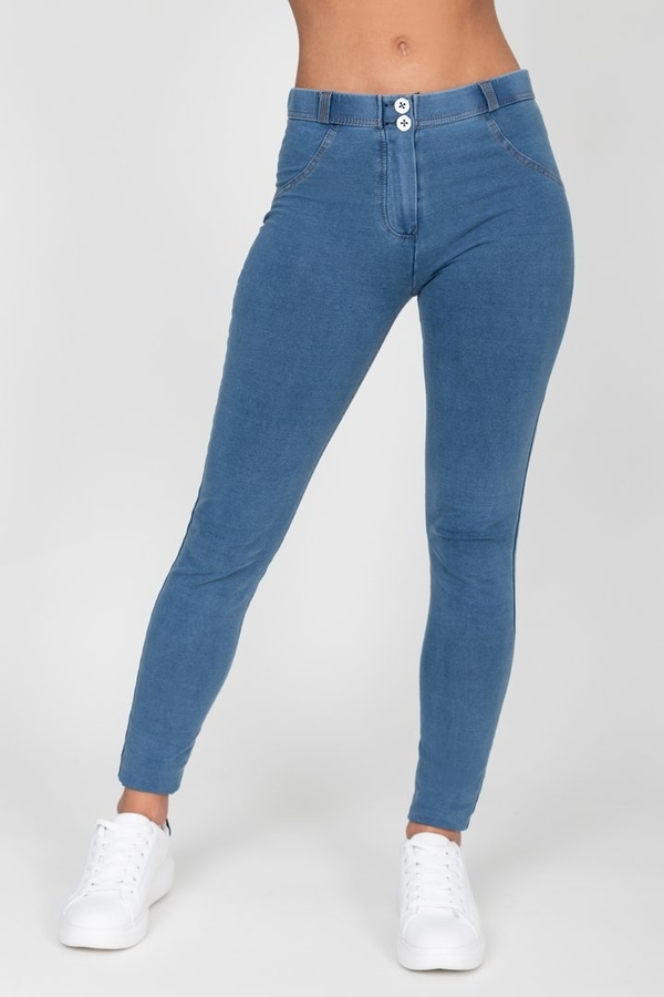 Hugz Light Blue Mid Waist Denim - S, S - 6