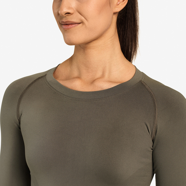 Better Bodies Tričko Nolita Seamless Long Sleeve Washed Green - M, M - 6