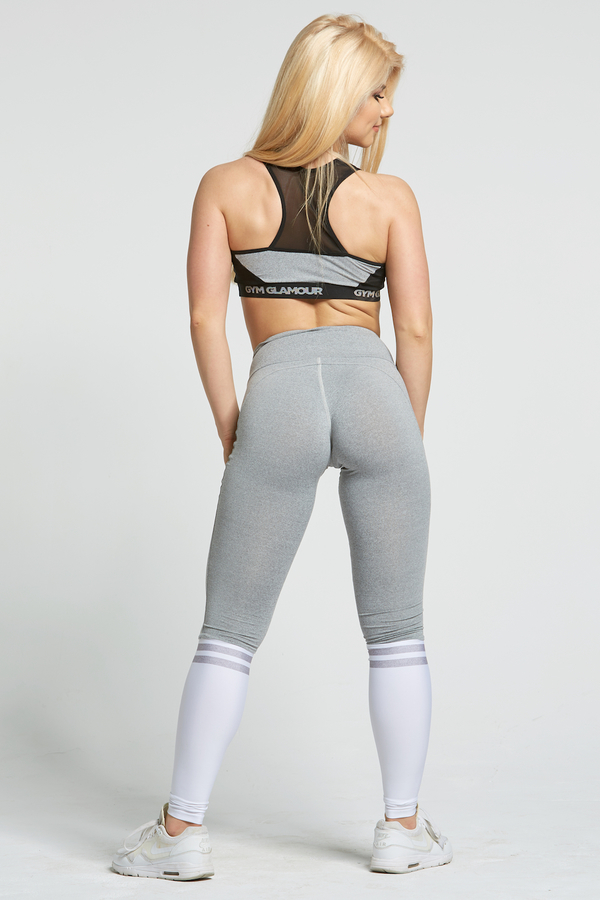 Gym Glamour Legíny Grey & White Socks - M, M - 7