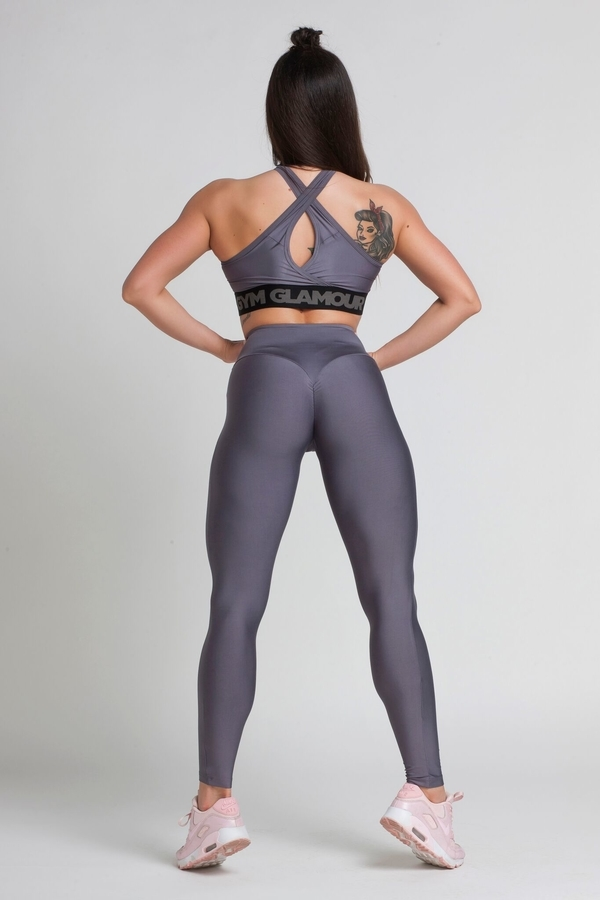 Gym Glamour Legíny High Waist Granite - M, M - 7