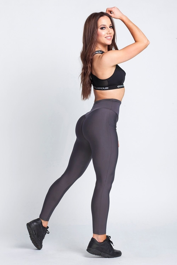 Gym Glamour Legíny High Waist Dark Grey - L, L - 7