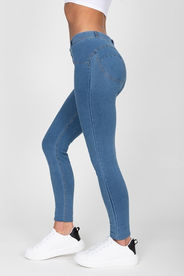 Hugz Light Blue Mid Waist Denim - S, S - 7