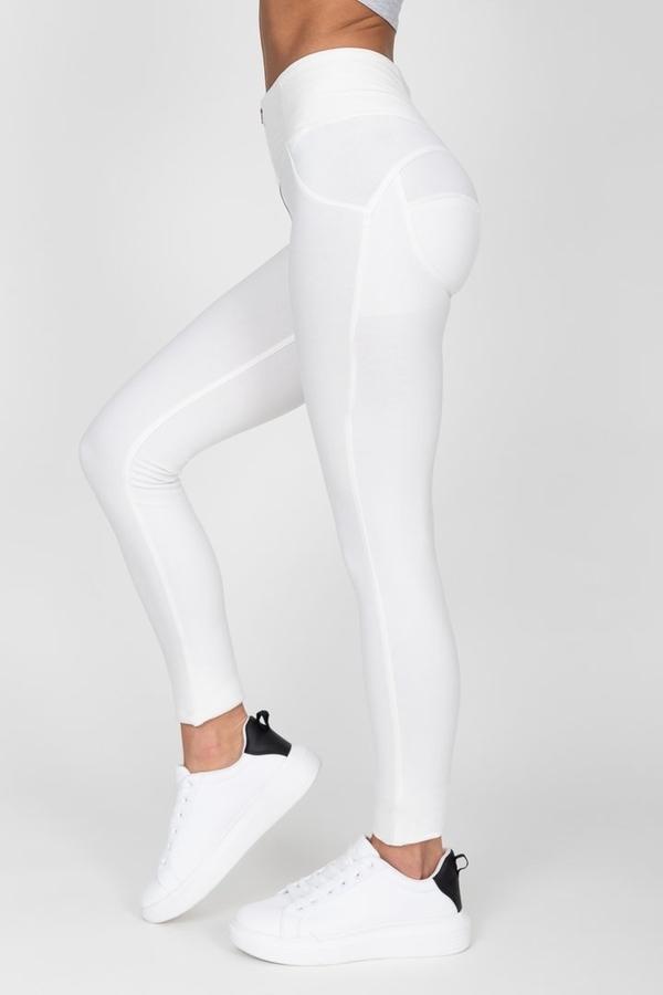 Hugz White High Waist Jegging - XL, XL - 7